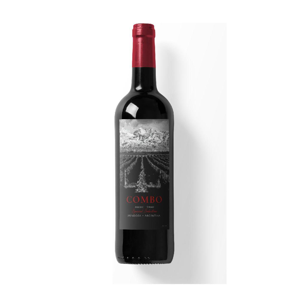 Vinho Tinto Combo Special Selection Blend Malbec Syrah 750ml