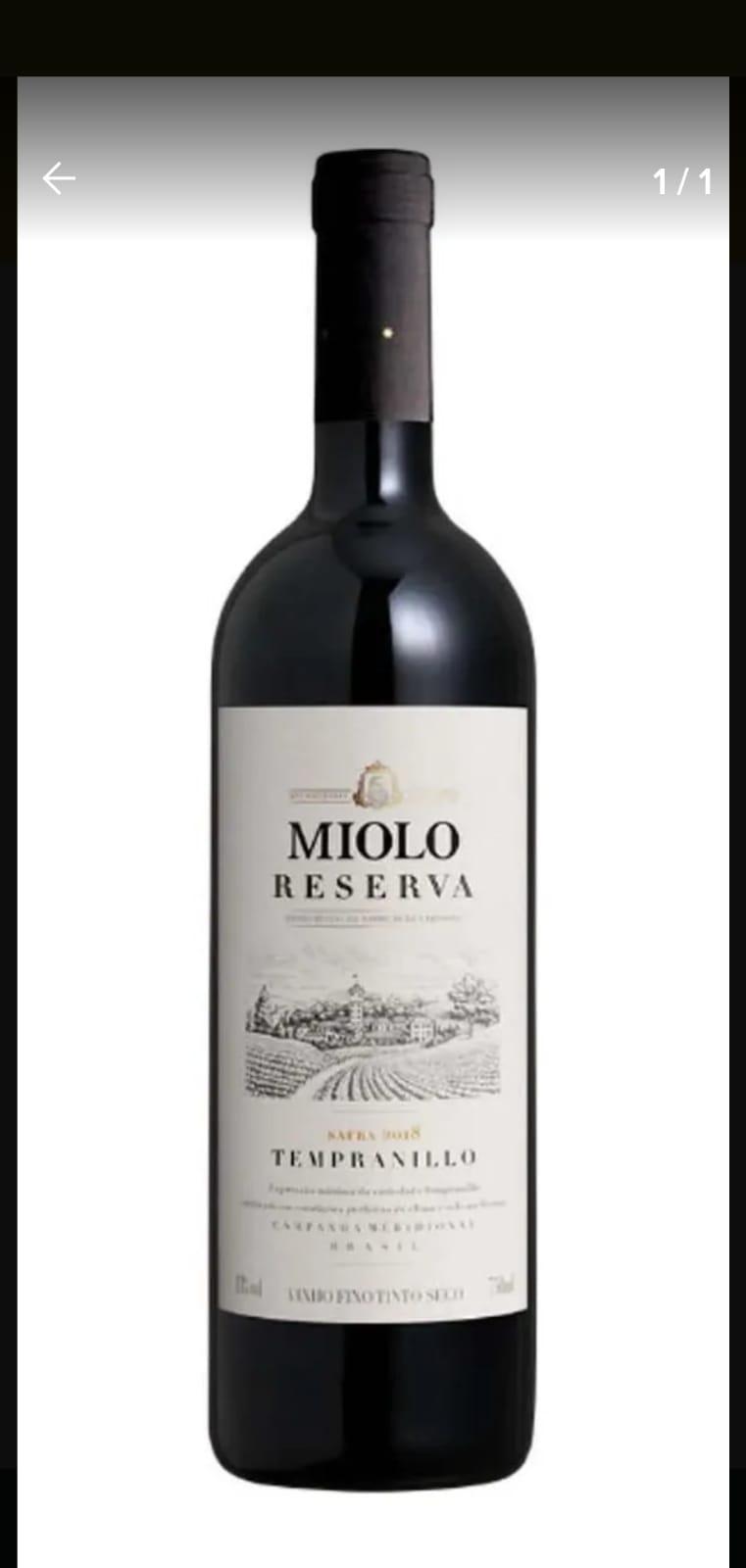 Vinho Tinto Miolo Reserva Tempranillo