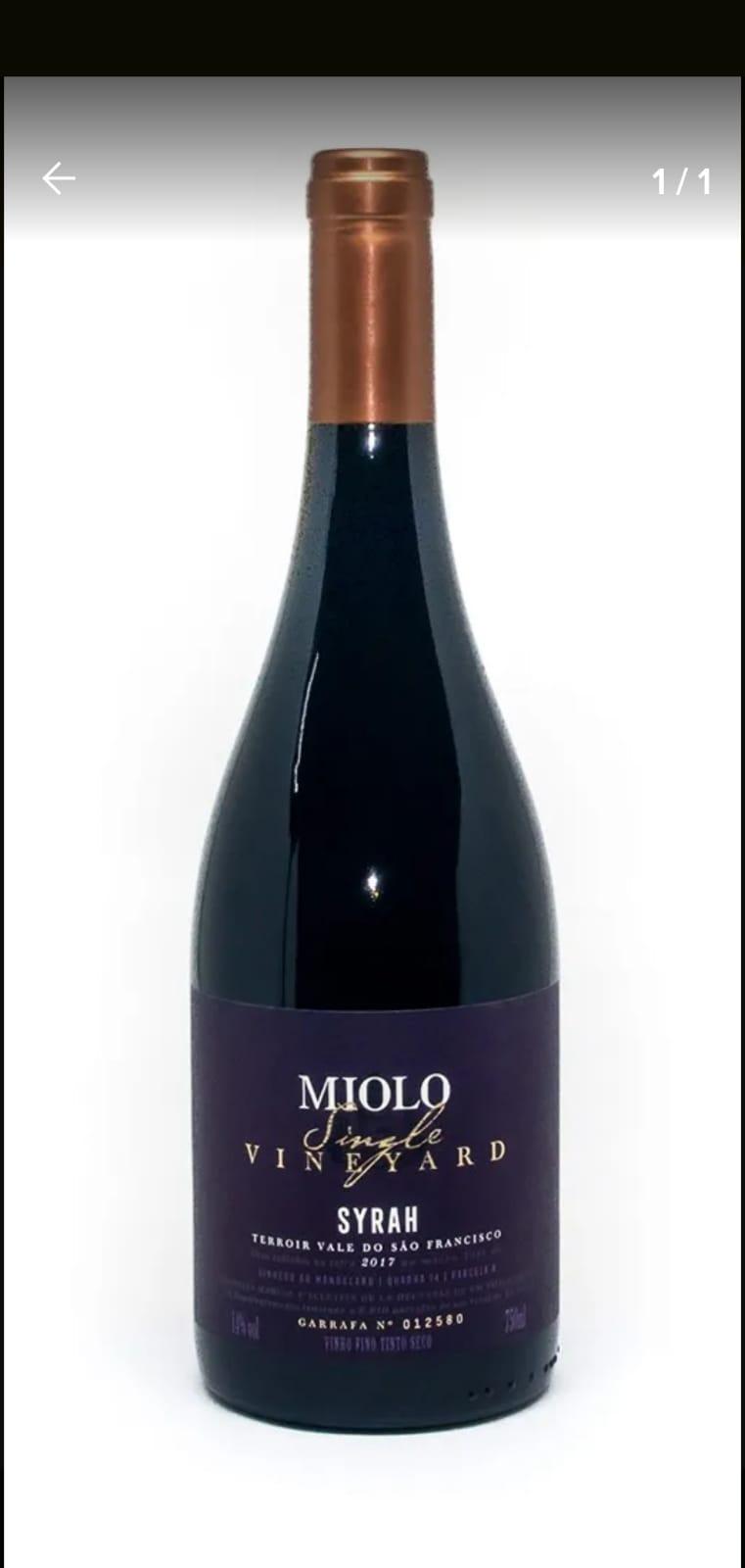 Vinho Tinto Miolo Single Syrah 750ml