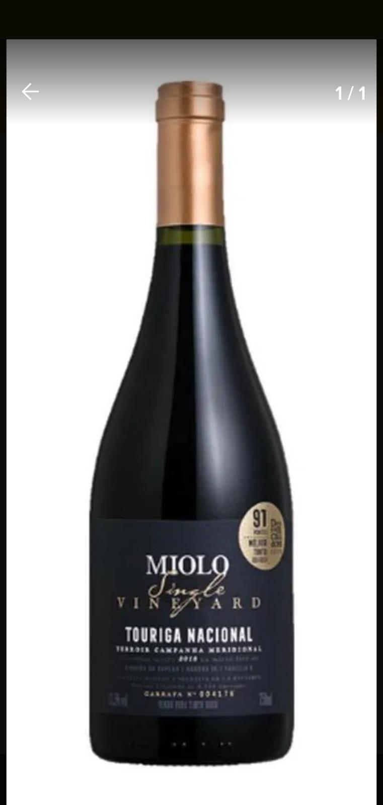 Vinho Tinto Miolo Single Touriga nacional 750ml