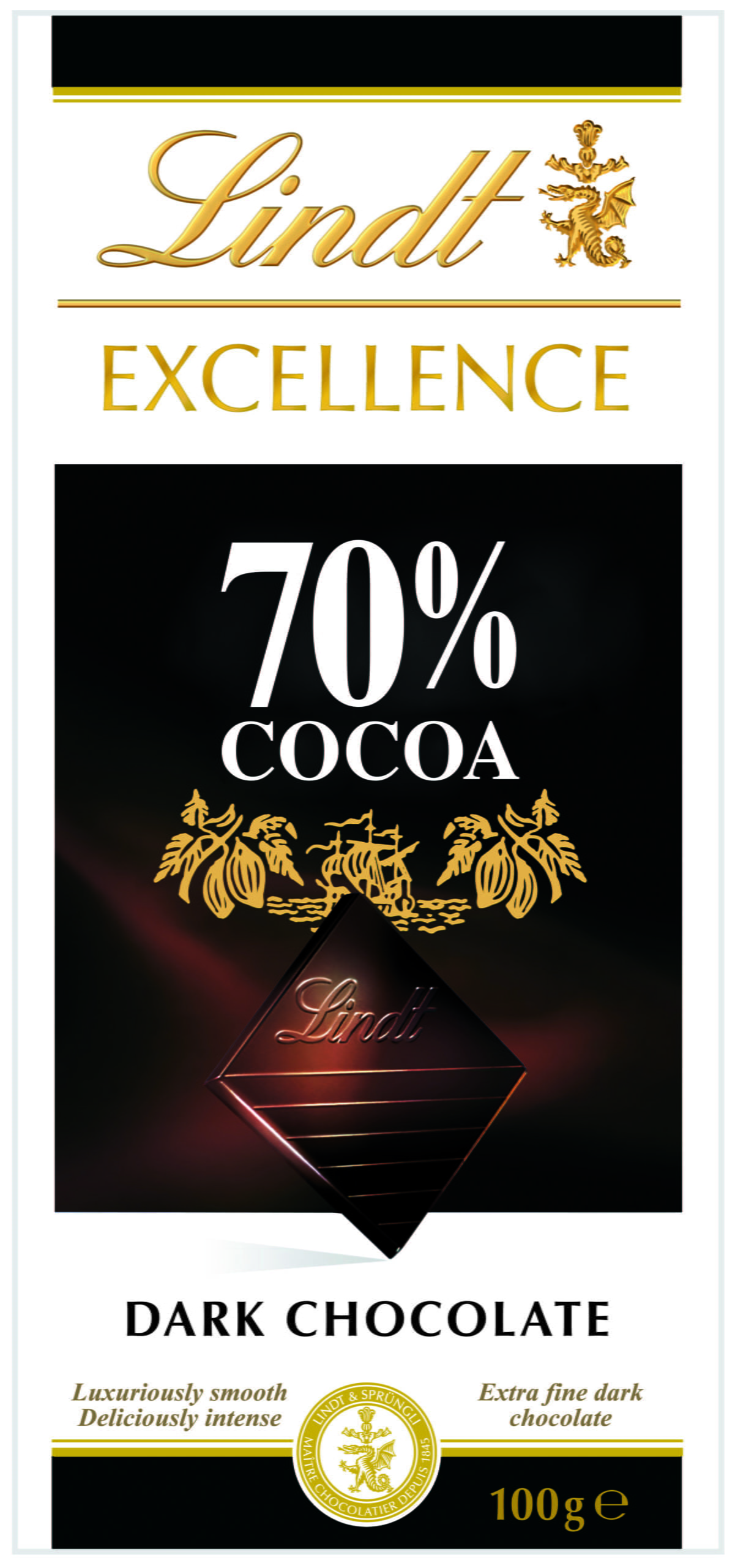 Chocolate Lindt Excellence 70% Cocoa (Dark) 100g