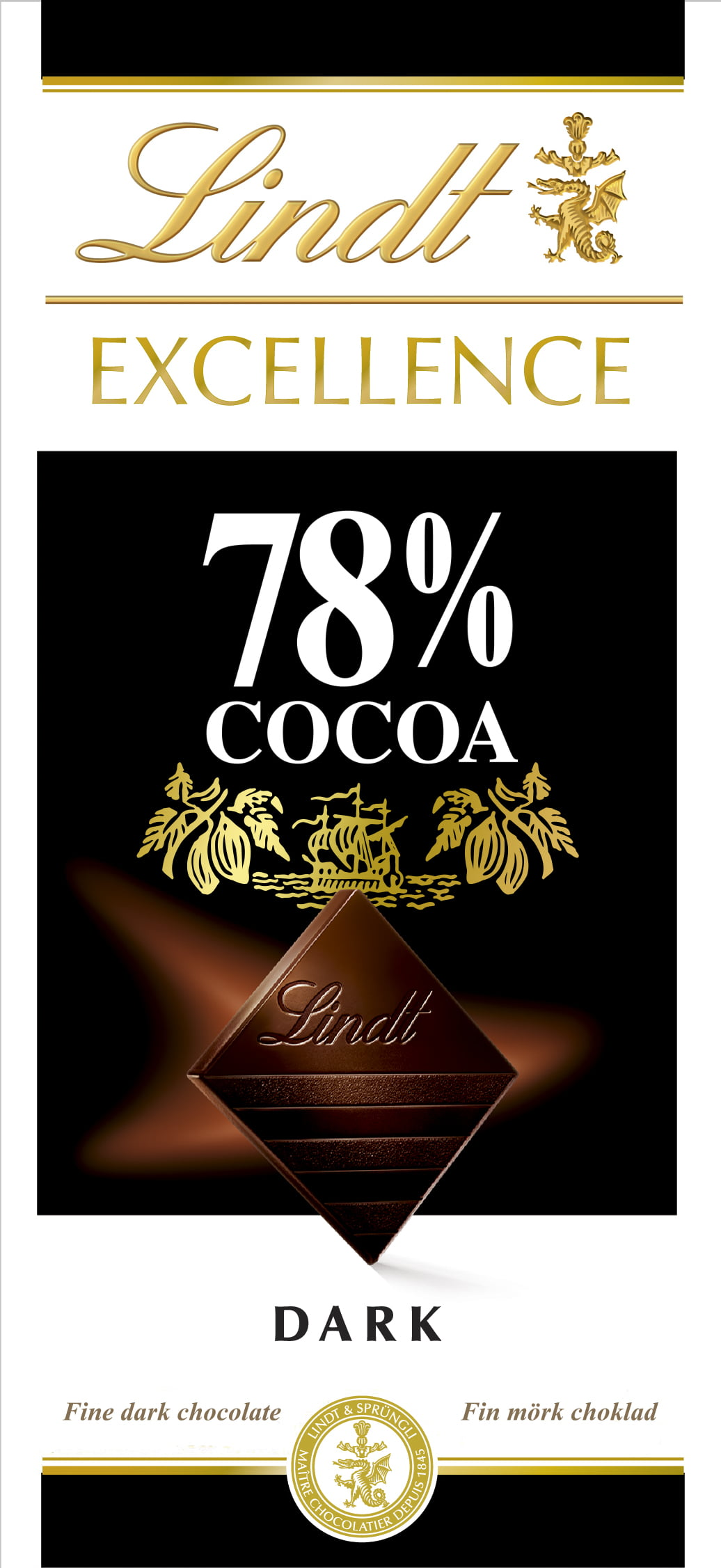 Chocolate Lindt Excellence 78% Cocoa (Dark) 100g