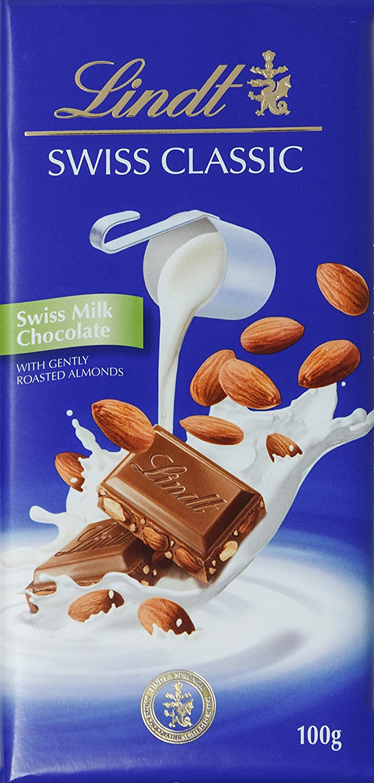 Chocolate Lindt Milk Almonds 100g