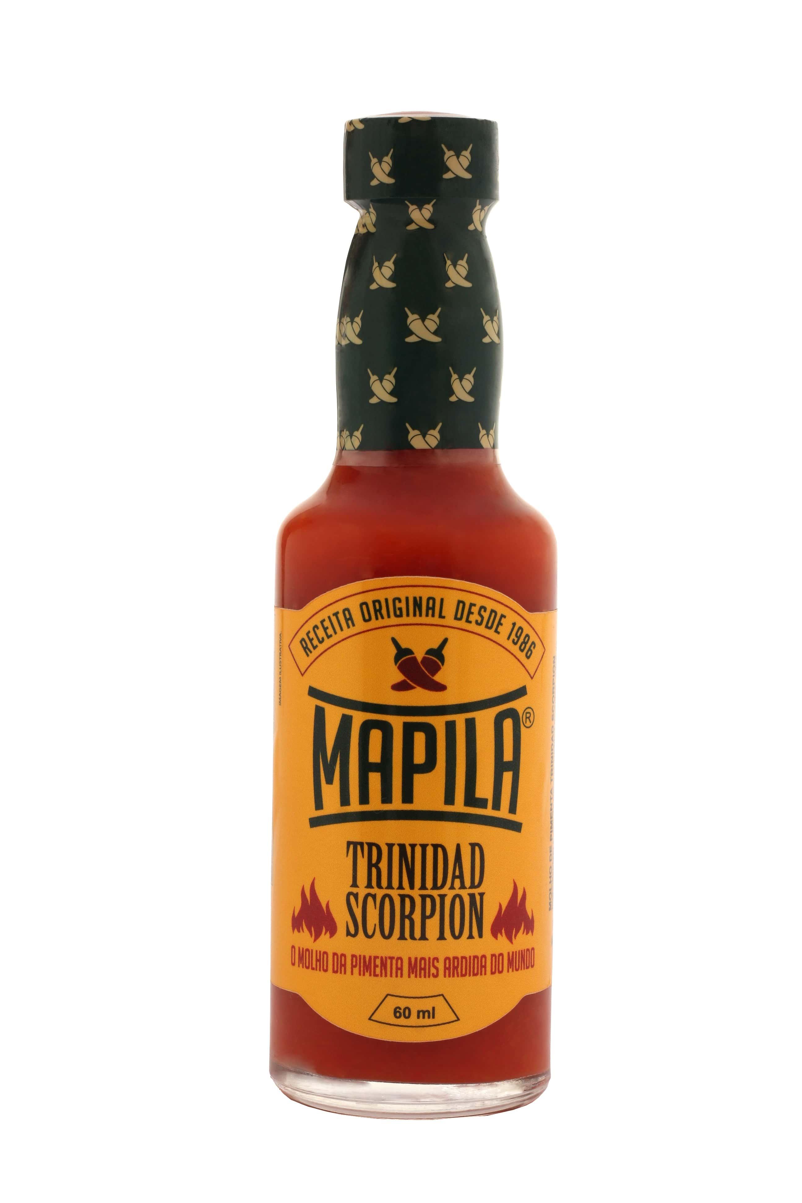 Molho de Pimenta Mapila Trinidad Scorpion 60ml