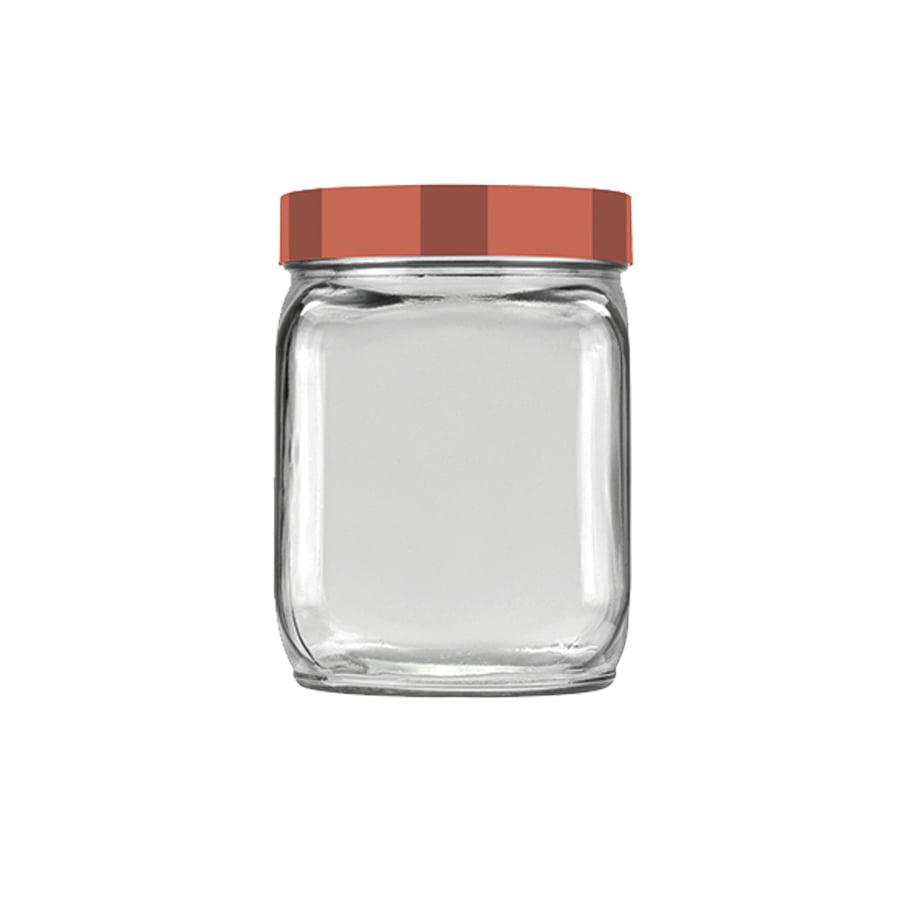 Pote Quadrado 0,75L Invicta Mix Incess - Coral