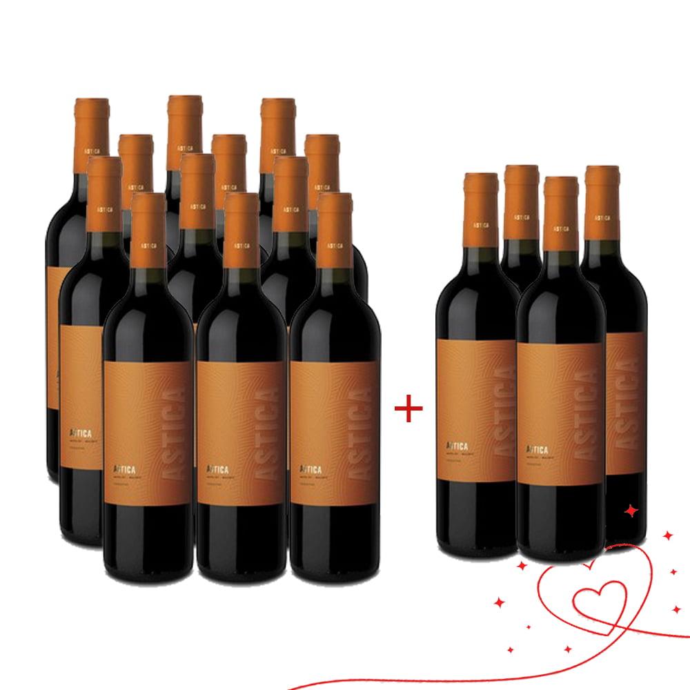 Combo Vinho Astica Merlot Malbec 750ml - 16 Unidades