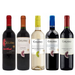 Combodilo Vinho Chilano - 5 Unidades (Red Blend | Carmenére | Moscatel | Merlot | Cabernet Sauv.)