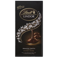 Chocolate Lindt Dark 60% Lindor Single 100g