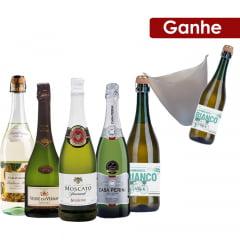 Combo 3 Espumantes + 2 Frisantes - Ganhe 1 Balde Acrílico + 1 Vinho Frisiante Branco