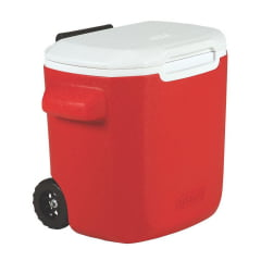 Caixa Térmica Coleman Com Rodas 16QT / 15,1 Litros- Vermelho