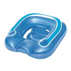Poltrona Inflável Nautika Lounge Com Porta Copo Azul