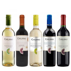 Combodilo Vinho Chilano  - 5 Unidades (Sauv. Blanc | Carmenére | Moscatel | Merlot | Cabernet Sauv.)